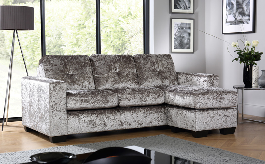 Decorating homes with crushed velvet sofa