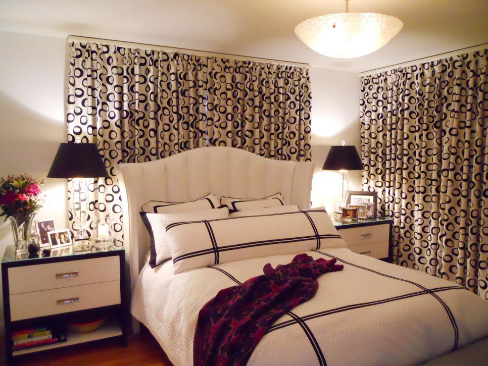 curtains for bedroom 7 beautiful window treatments for bedrooms | hgtv FKHFRQK