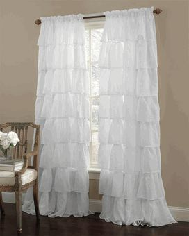 curtains for girls room gypsy ruffled curtain panel - great price for a ruffle curtain and cheaper KOCQGEO