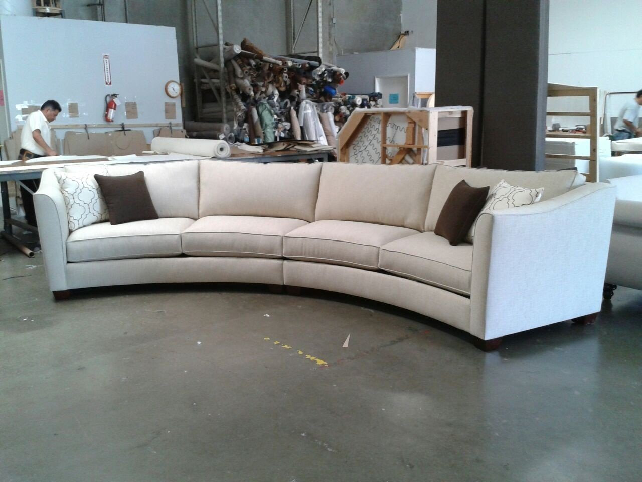 curved sectional sofa set - rich comfortable upholstered fabric -  contemporary curved RMFNBVU