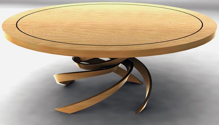 custom furniture spiral dining table JPJMTOZ
