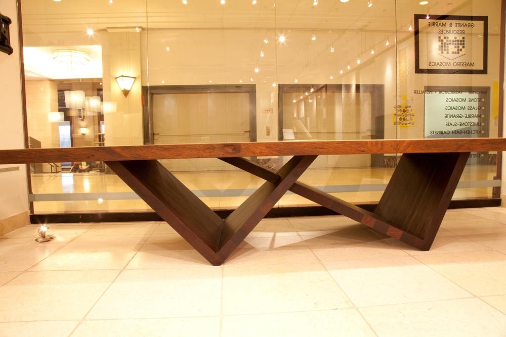 custom furniture yaya and wenge leg slab table QUASIHZ