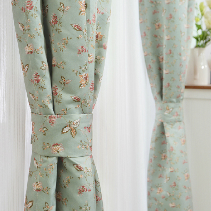custom green small floral shabby chic curtains TDYGOSA