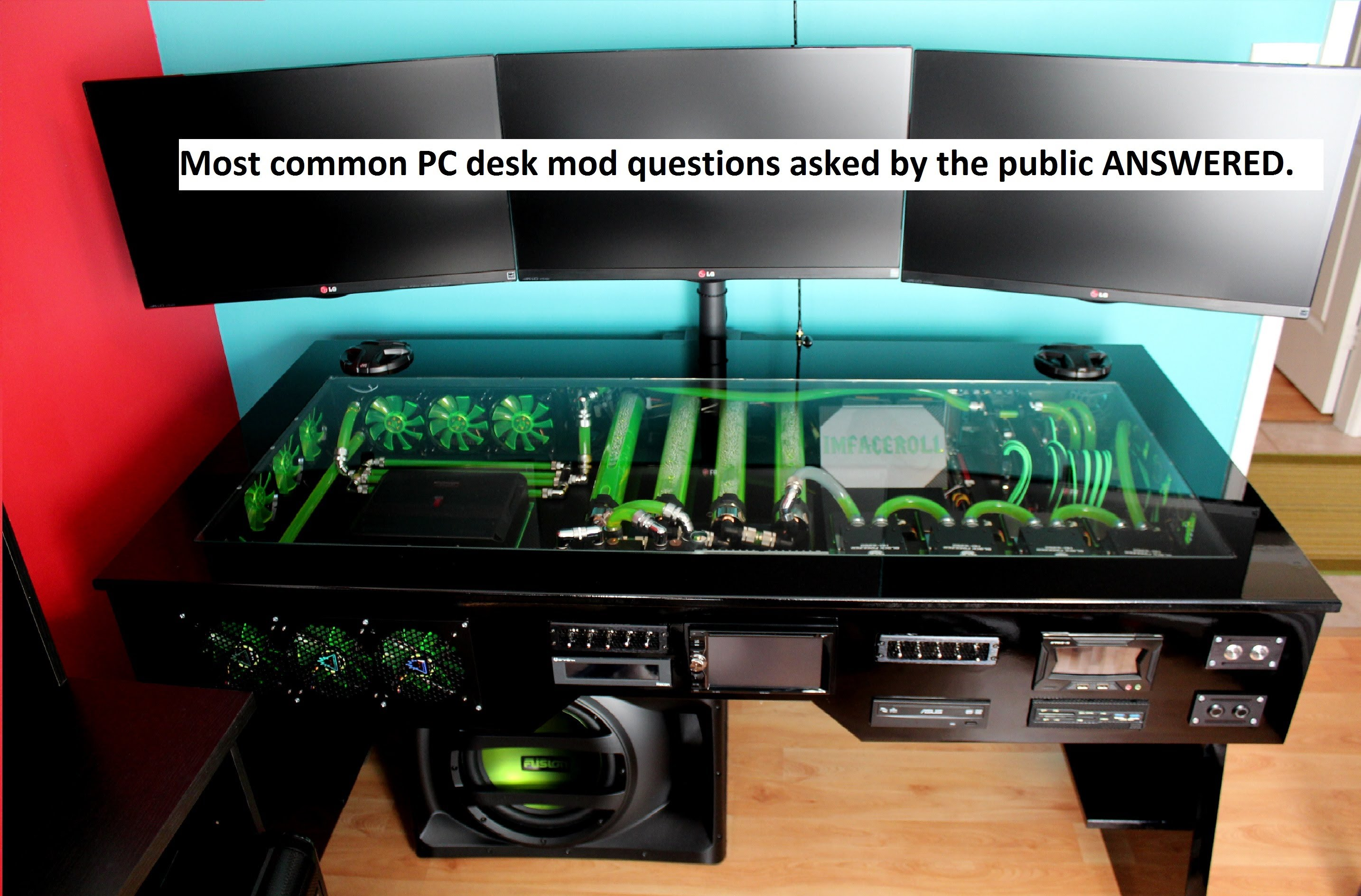 custom water cooled pc desk mod commonly asked questions answered. - youtube QCLBCUO