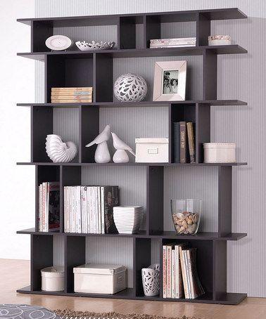 dark brown tilson modern bookcase ULXDBYW