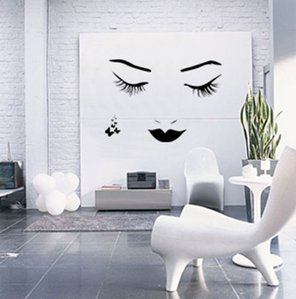 decals for walls wall decal nao woman face wall decal by couture dco WZHNQLE