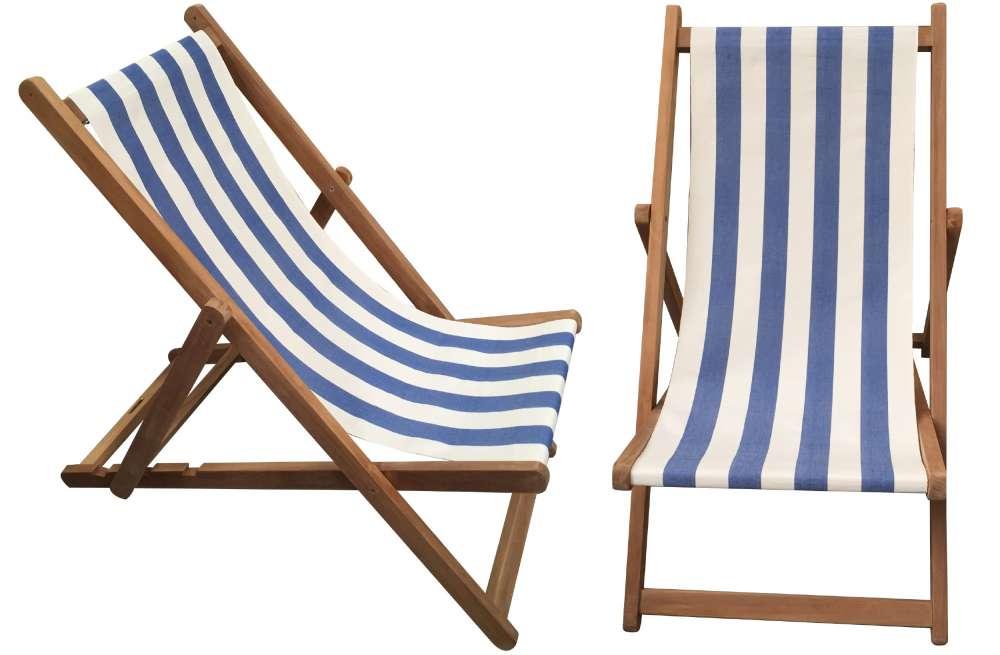 deck chair blue u0026 white stripe deckchair - soccer stripe YOXZOJD
