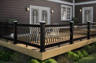 deck railing ideas deckorators black cxt architectural railing OURZDWQ