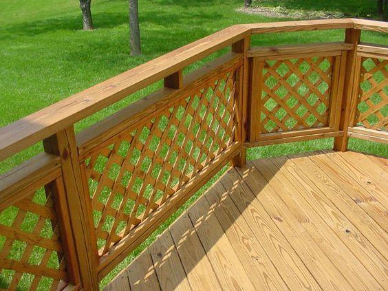 deck railing ideas lattice panel deck railing - deck railing designs FQLPLJK