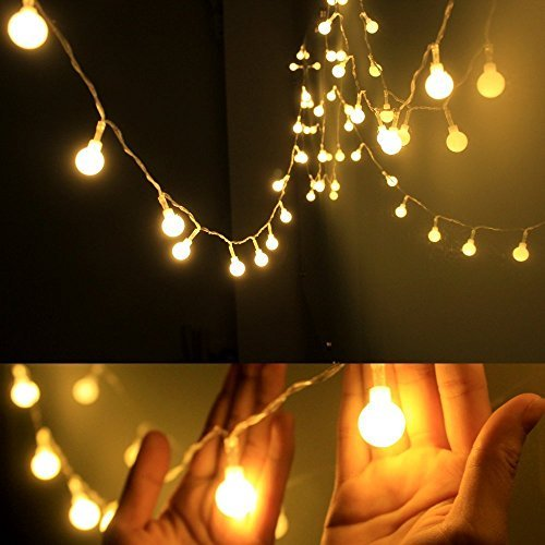 decorative lights ledinus 13ft/4m 40 led globe long string lights ball fairy light decorative AYHLVFL