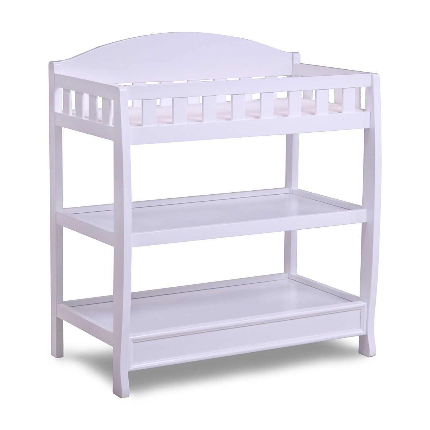 delta children infant changing table with pad, white XLJRENJ