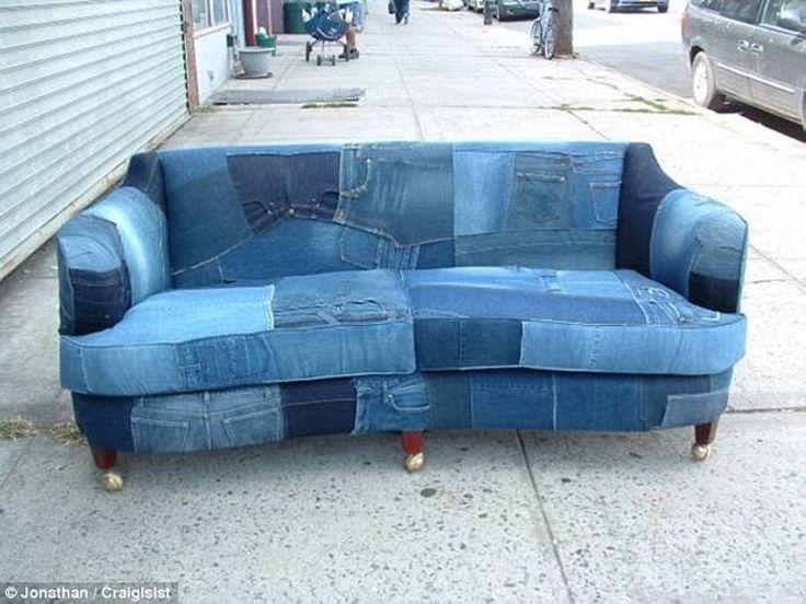 denim sofa recycled denim jeans sofa covers CJPBTFL