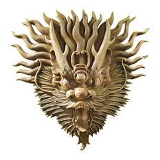 design toscano - tibetan sculptural dragon wall mask - wall sculptures KNZLZMT