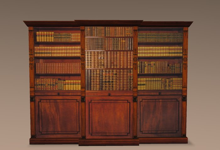 detailed antique bookcase/cabinet copy IYBCRFA