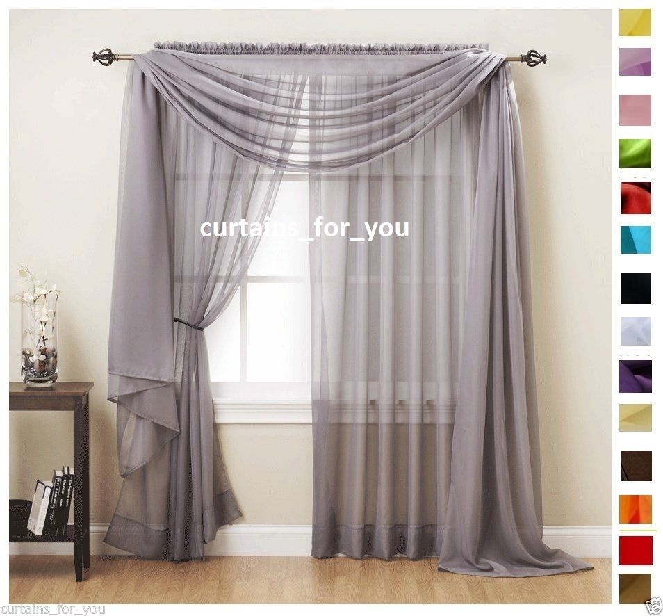details about voile curtains scarf pelmet valance 17 colours amazing for  you CUTDJIW