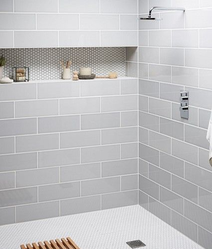 devon metro flat arctic grey gloss subway kitchen bathroom wall tiles 10 x RLIQOCF