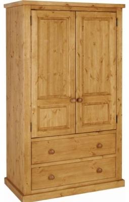 devonshire chunky pine wardrobe - 2 door 2 drawer UNRKETZ