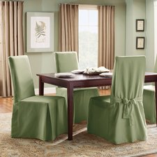 dining room chair covers cotton duck full length dining room chair slipcover VNZSRHJ