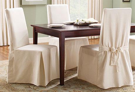 dining room chair covers crisp, pure cotton. XLNTFLZ