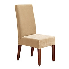 dining room chair covers image of sure fit® stretch pique short dining room chair slipcover XMRCBJI
