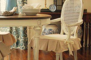 dining room chair covers miss mustard seed: dining chair slipcover tutorial. dining room chair  slipcoversdining ... OFIIEXG