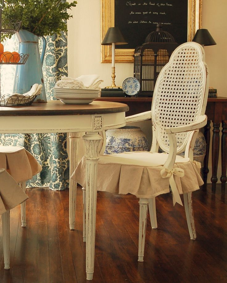dining room chair covers miss mustard seed: dining chair slipcover tutorial. dining room chair  slipcoversdining ... ONQCRKJ
