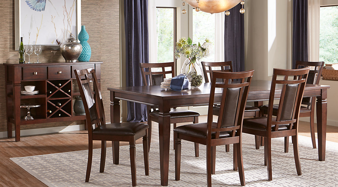 dining room furniture sets riverdale cherry 5 pc rectangle dining room PNCZELG