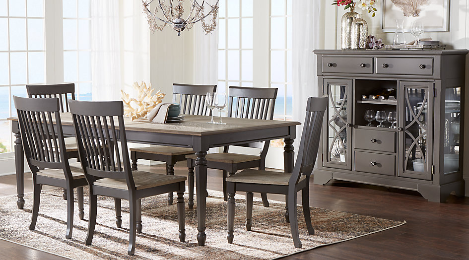 dining room sets cindy crawford home ocean grove gray 5 pc dining room from furniture AZQVSIB