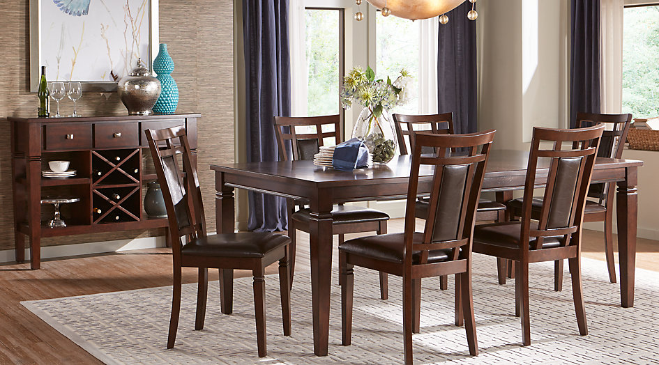 dining room sets riverdale cherry 5 pc rectangle dining room BRWIRQF