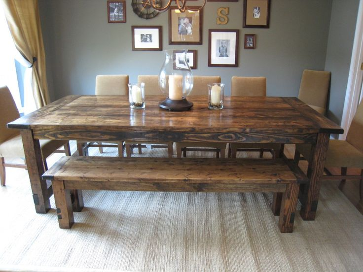 dining room tables how to make a diy farmhouse dining room table: restoration hardware knockoff XANTPAH