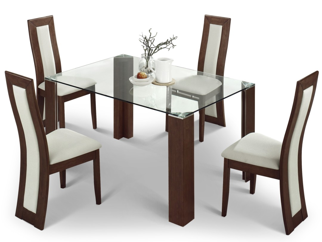 Solid beautiful dining table and chairs