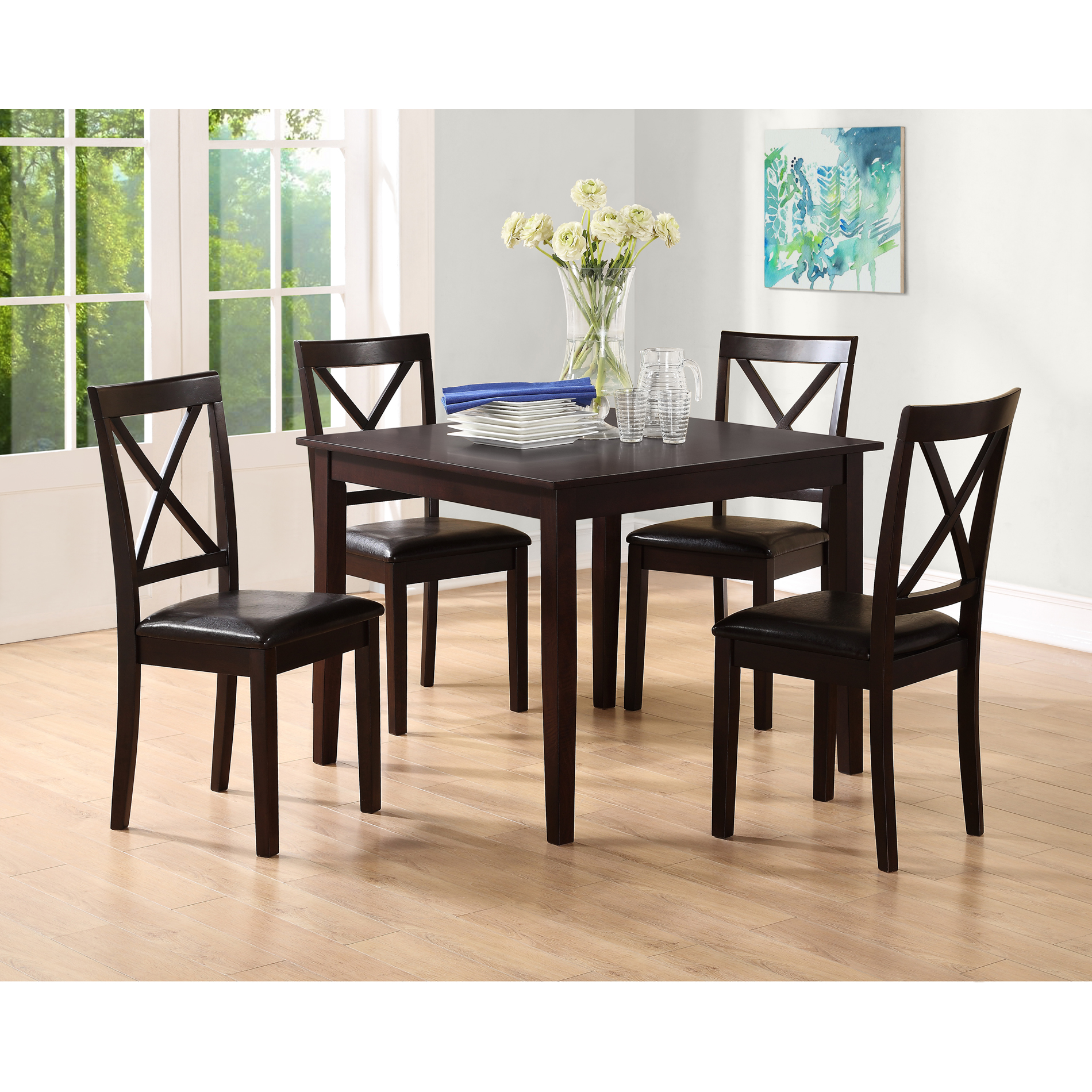 dining table and chairs dorel living sydney 5 pc dining set QZOKDPN
