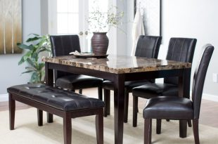 dining table set finley home palazzo 6 piece dining set with bench - dining table sets DSWPZUP