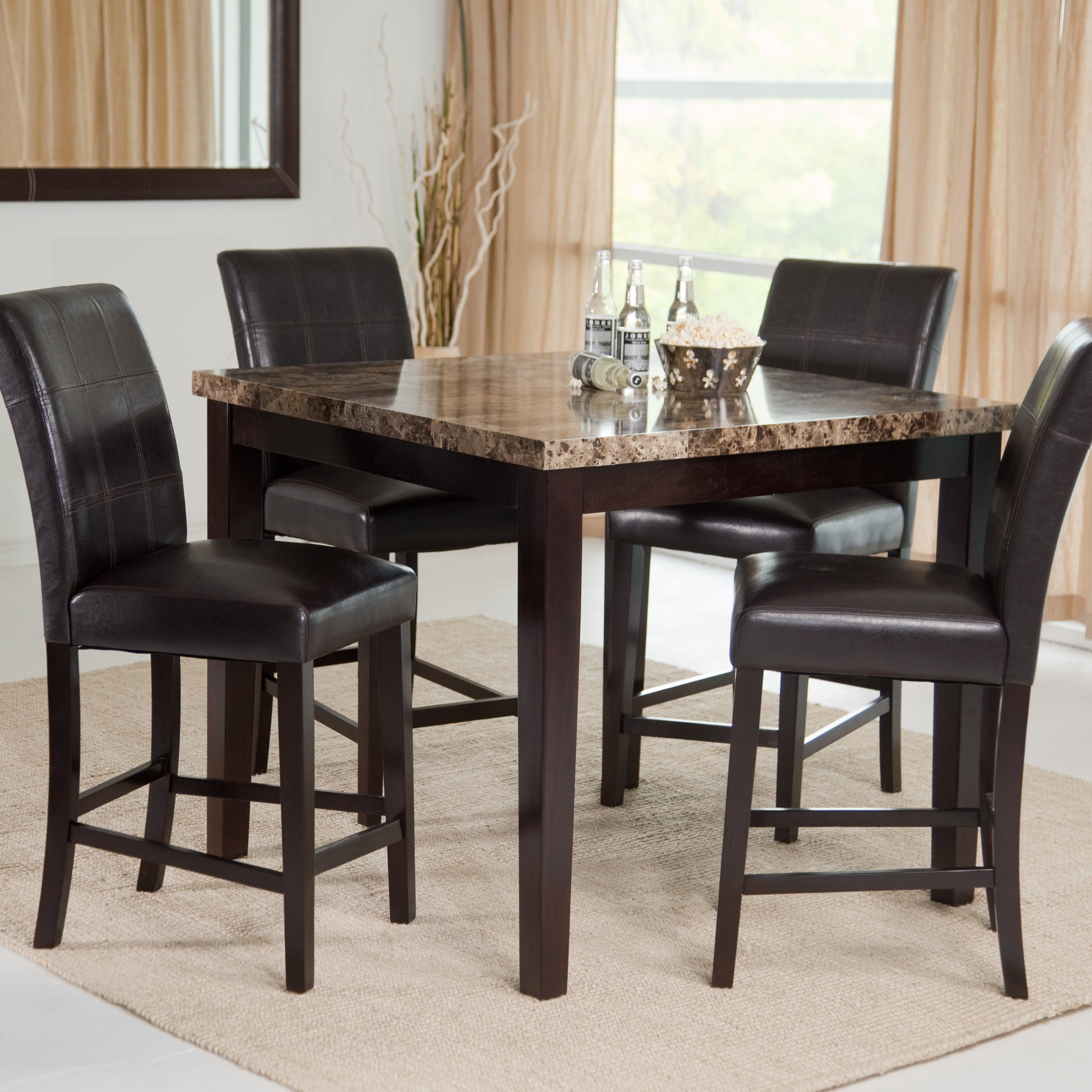 dining table set finley home palazzo 6 piece dining set with bench - dining table sets ZISTQPJ
