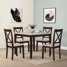 dining table set tilley rustic 5 piece dining set AZBQLIM