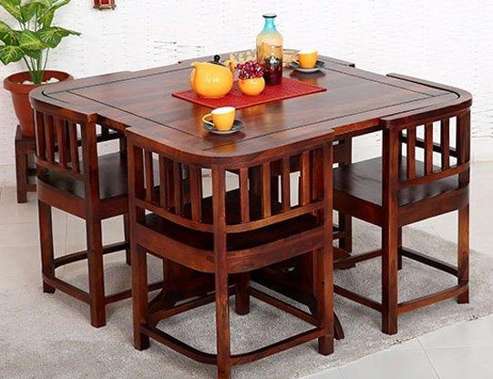 dinner table set 4 seater dining table set in delhi STVUXFN