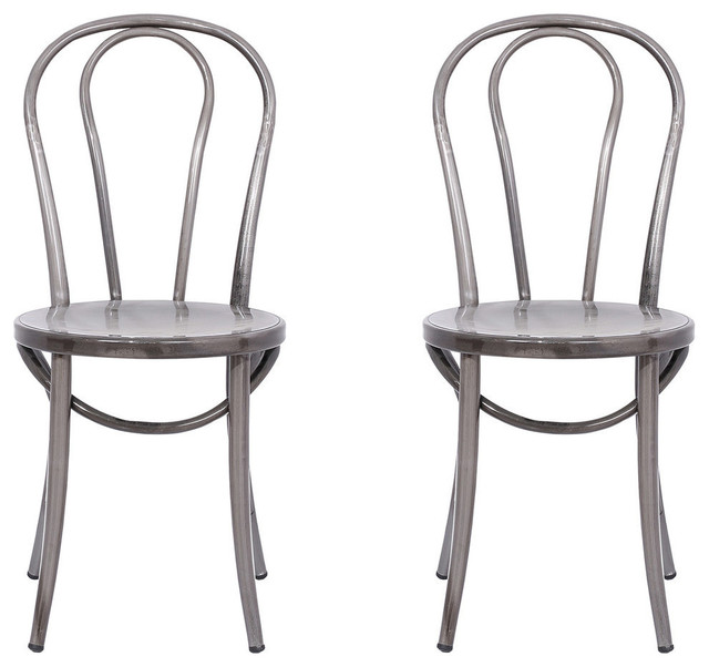distressed metal bistro chairs, set of 2 industrial-dining-chairs YRXXBEC