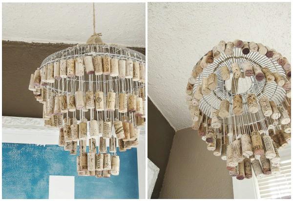 diy chandelier 16 genius diy lamps and chandeliers to brighten up your home WTUYIOP