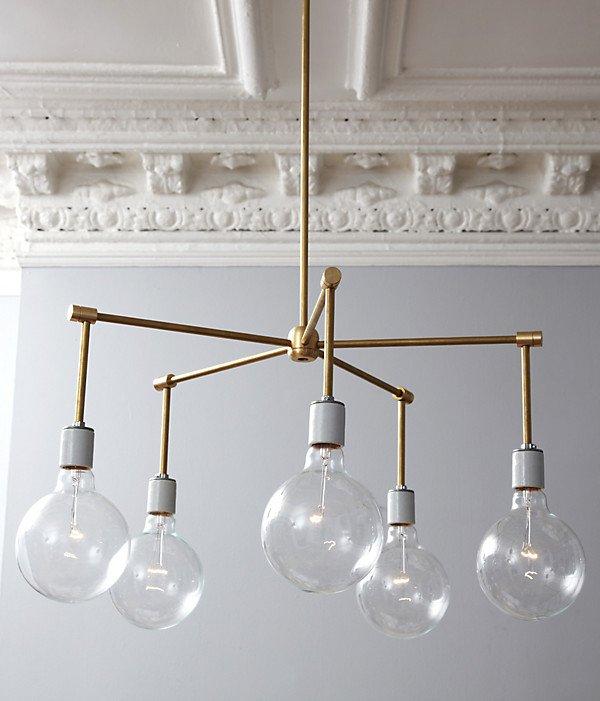 diy chandelier brass balls PVKJTJA