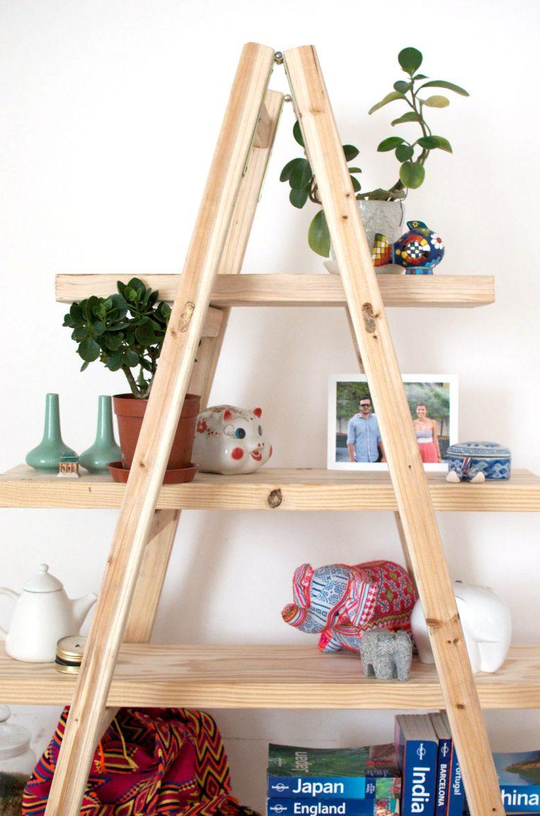 diy ladder shelves TMARTXN