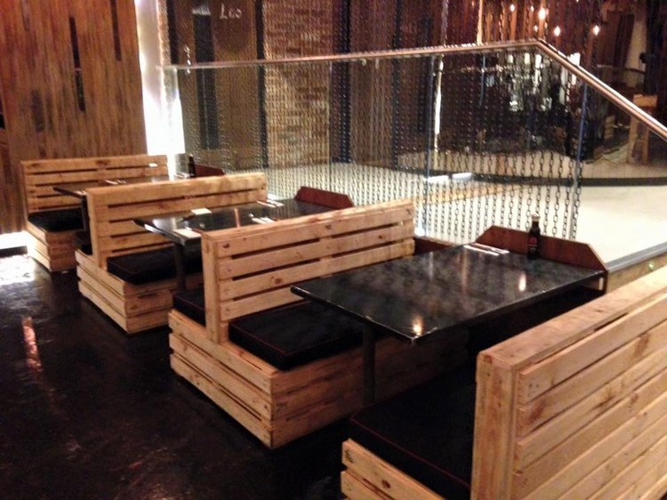 diy pallet restaurant furniture LSVDUVY
