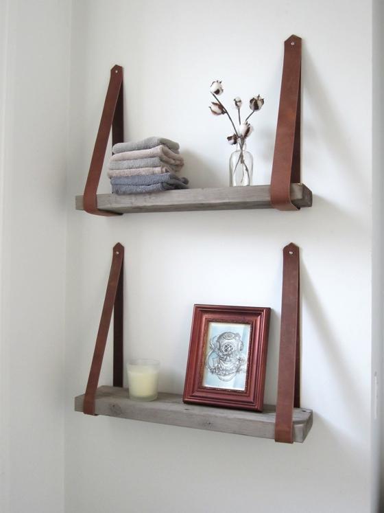 diy shelves diy decorative shelving. leathershelve21 QIYHTFU