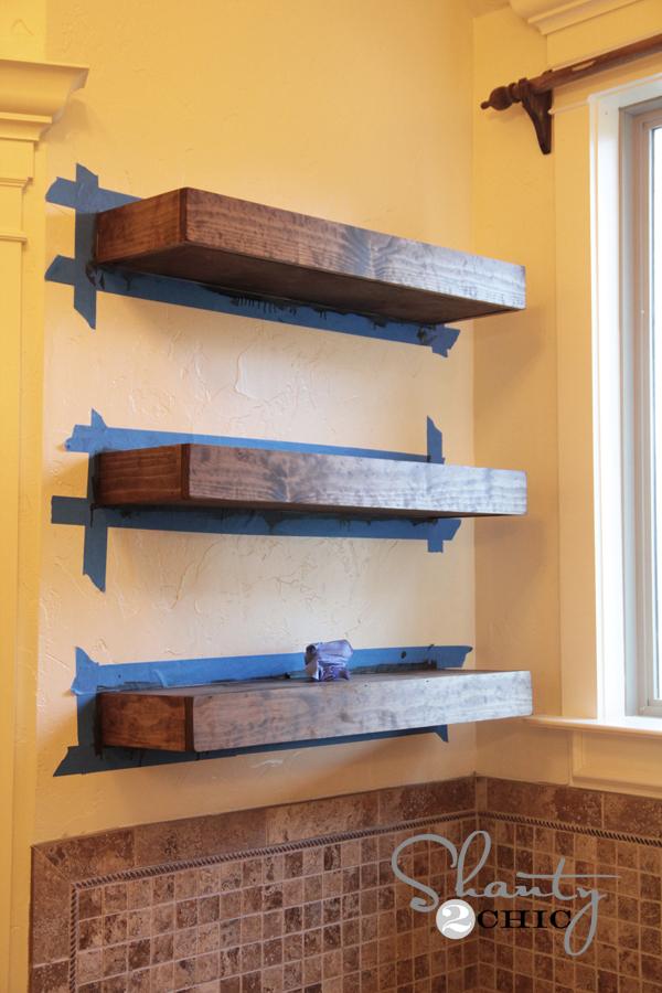 diy shelves diy floating shelves tutorial SPYZOAY