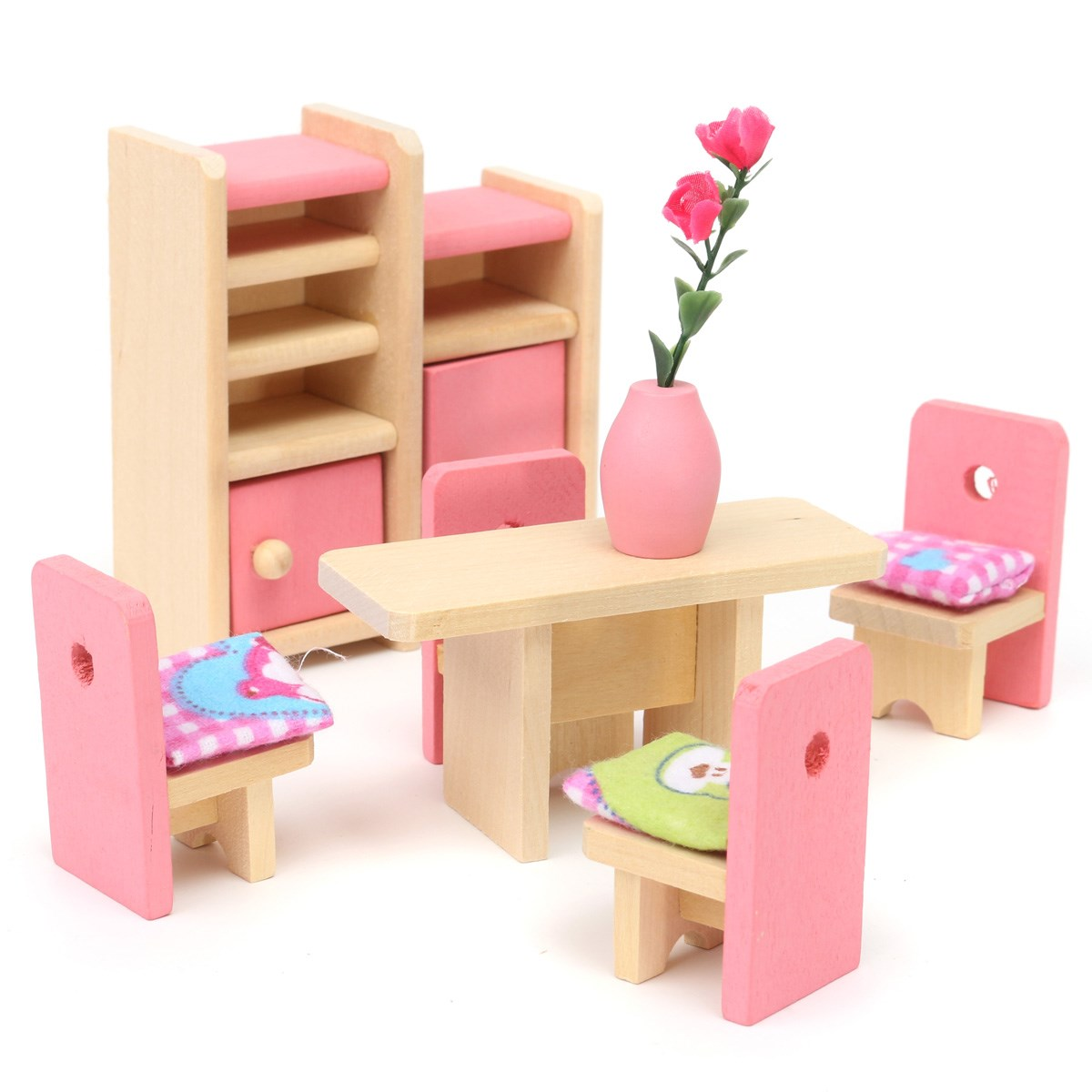 dolls house furniture aliexpress.com : buy wooden delicate dollhouse furniture toys miniature for  kids children DLOMZQU