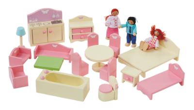 dolls house furniture george home wooden doll house furniture set | kids | george at asda IDUQKUS