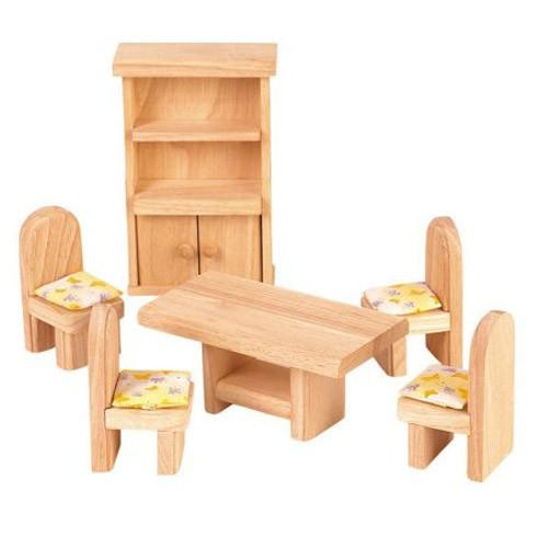 dolls house furniture wooden dollhouse furniture - classic dining room ZZFENVD