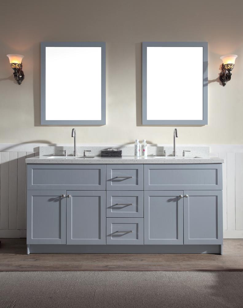 double sink vanity ariel hamlet 73 VZKKUDR