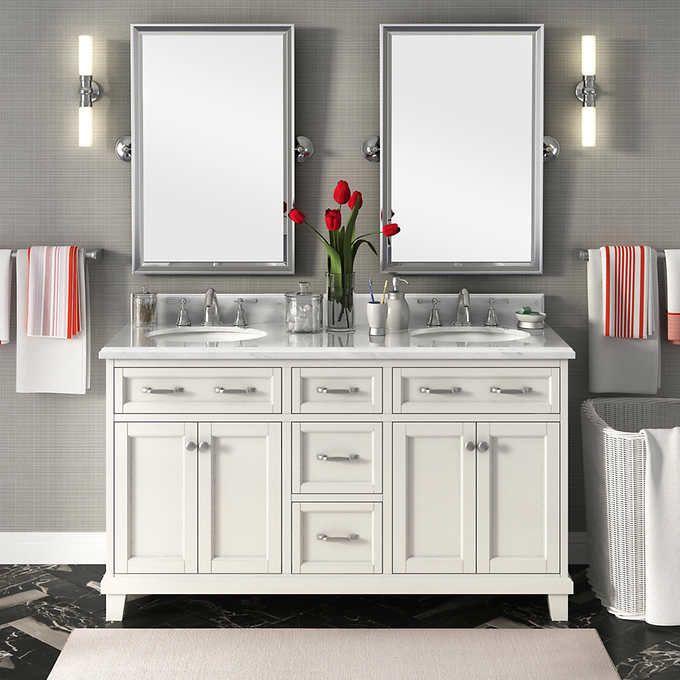 double sink vanity carolina 60 FYXUYQS