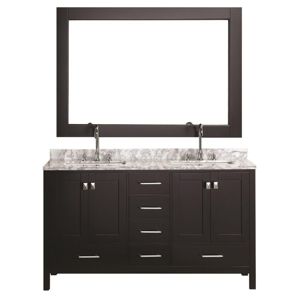 double sink vanity d double vanity in QLMHNRG