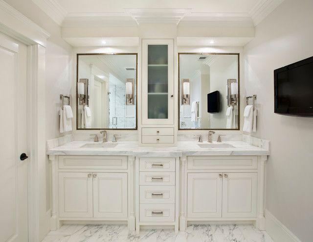 double sink vanity white mediterranean bathroom design interior applied white bathroom vanity  cabinets and marble EFXLWVX